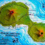 map of ometepe , location hostel homestay, b&B bed and Breakfast